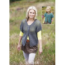 Womens & Childrens Cardigans in Click Chunky with Wool (9524)
