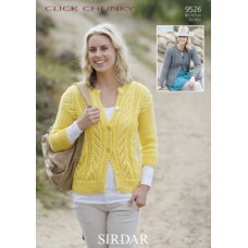 Womens Cardigans in Click Chunky with Wool (9526)