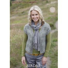 Womens Cardigans in Click Chunky with Wool (9527)