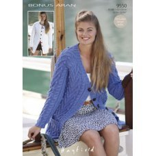 Womens Cardigans in Hayfield Bonus 400g Aran with Wool (9550)