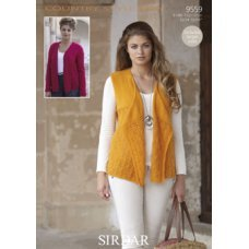 Womens Waistcoats in Country Style 4 Ply 50g (9559)