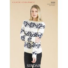 Womens Sweaters in Click Chunky with Wool (9686)