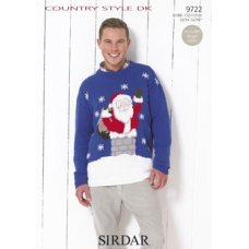 Santa Claus sweater in Country Style DK (9722)