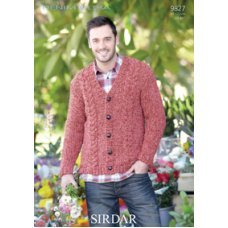 Mens Cardigan in Denim Ultra (9827)