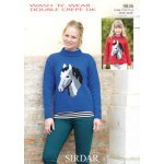 Horse picture sweater in Wash 'n' Wear Double Crepe DK (9836)
