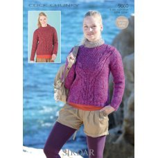 Womens Sweaters in Click Chunky with Wool (9860)