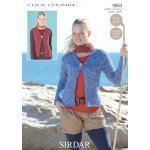 Womens Cardigan and Waistcoat in Click Chunky with Wool (9863)