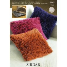 Cushion Covers in Hayfield Chunky with Wool and Sirdar Funky Fox (9865)