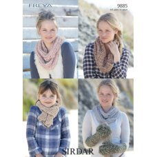 Scarf, Mittens and Snood in Sirdar Freya (9885)
