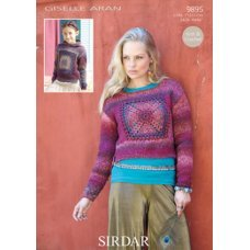 Sweaters with Crochet square insets in Sirdar Giselle (9895)