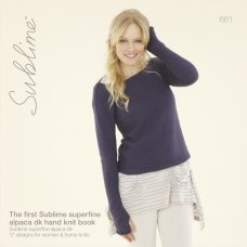The first Sublime Superfine Alpaca DK hand knit book (681)
